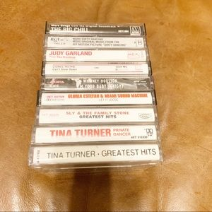 Mix of 9 old cassette tapes